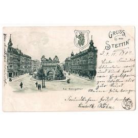 297.  Stettin (Szczecin) - Gruss, Felderhoffbrunnen 1905