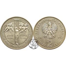 III RP, 2 złote, 1995, 100 lat Igrzysk Olimpijskich