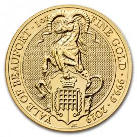 Wielka Brytania, 100 funtów, uncja złota