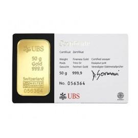 Niemcy, Heraeus, Sztabka złota 50 g