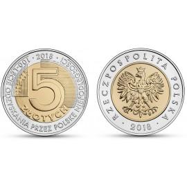 III RP, 5 złotych, 100-lecie odzyskania przez Polskę niepodległości