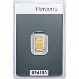 Niemcy, Heraeus, Sztabka złota 1 g