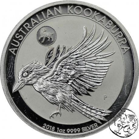 Australia, 2018, Koookaburra, uncja srebra