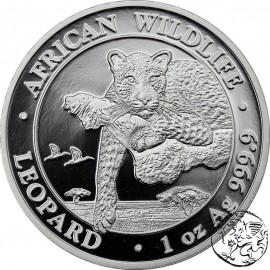 Somalia, 100 shillings, 2020, Leopard, uncja srebra
