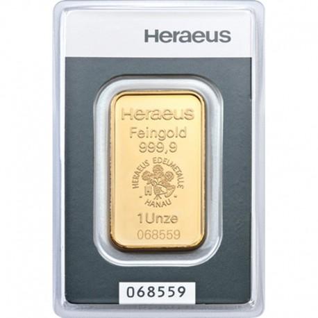 Sztabka złota 1 uncja, Au 999