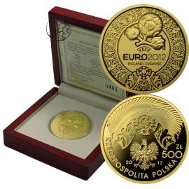 III RP, 500 złotych, 2012, Euro, UEFA, 2 uncje