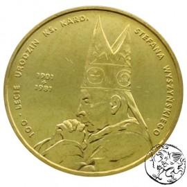 III RP, 2 złote, 2001, Kardynał Stefan Wyszyński