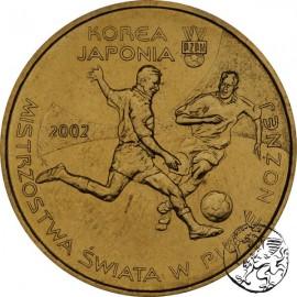 III RP, 2 złote, 2002, Mistrzostwa Świata w piłce nożnej Korea Japonia