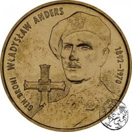 III RP, 2 złote, 2002, Generał Władysław Anders