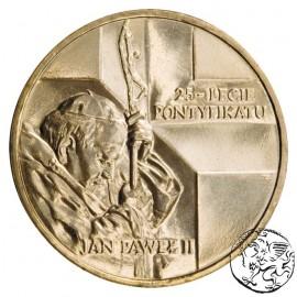 III RP, 2 złote, 2003, Jan Paweł II, 25 - lecie pontyfikatu