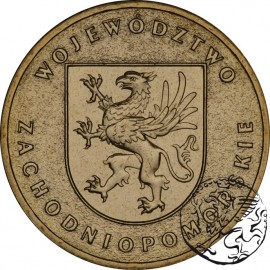 III RP, 2 złote, 2005, Województwo Zachodniopomorskie