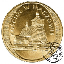 III RP, 2 złote, 2006, Kościół w Haczowie