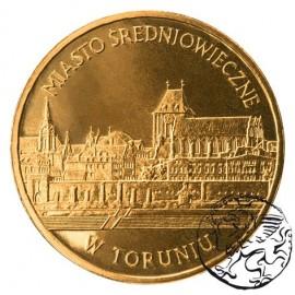 III RP, 2 złote, 2007, Miasto średniowieczne w Toruniu