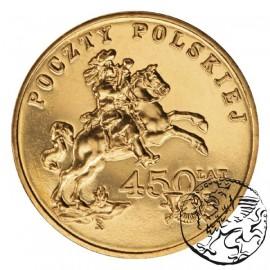 III RP, 2 złote, 2008, 450 lat Poczty Polskiej