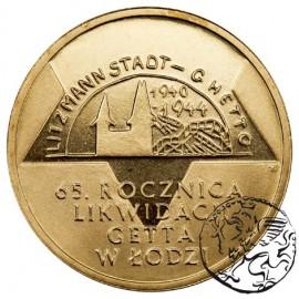 III RP, 2 złote, 2009, Likwidacja Getta w Łodzi