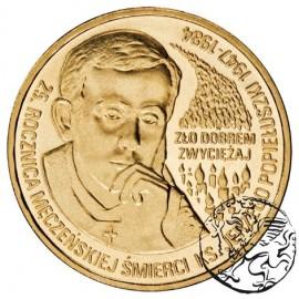 III RP, 2 złote, 2009, 25. rocznica śmierci Popiełuszki