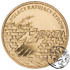 III RP, 2 złote, 2009, Polacy ratują Żydów