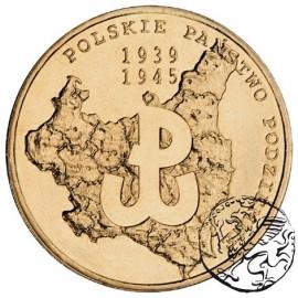 III RP, 2 złote, 2009, Polskie Państwo Podziemne