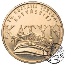 III RP, 2 złote, 2010, Katyń