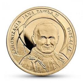 III RP, 2 złote, Kanonizacja Jana Pawła II