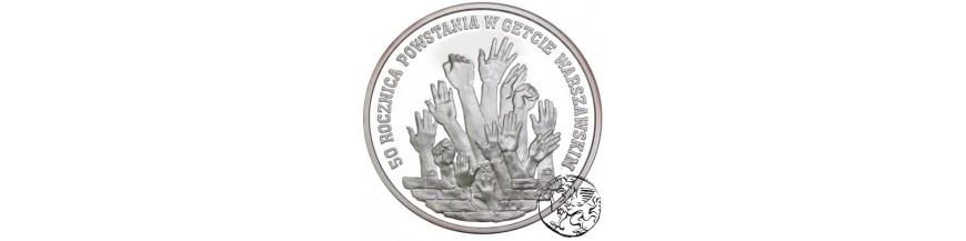 Monety kolekcjonerskie 100000, 200000 i 300000 zł